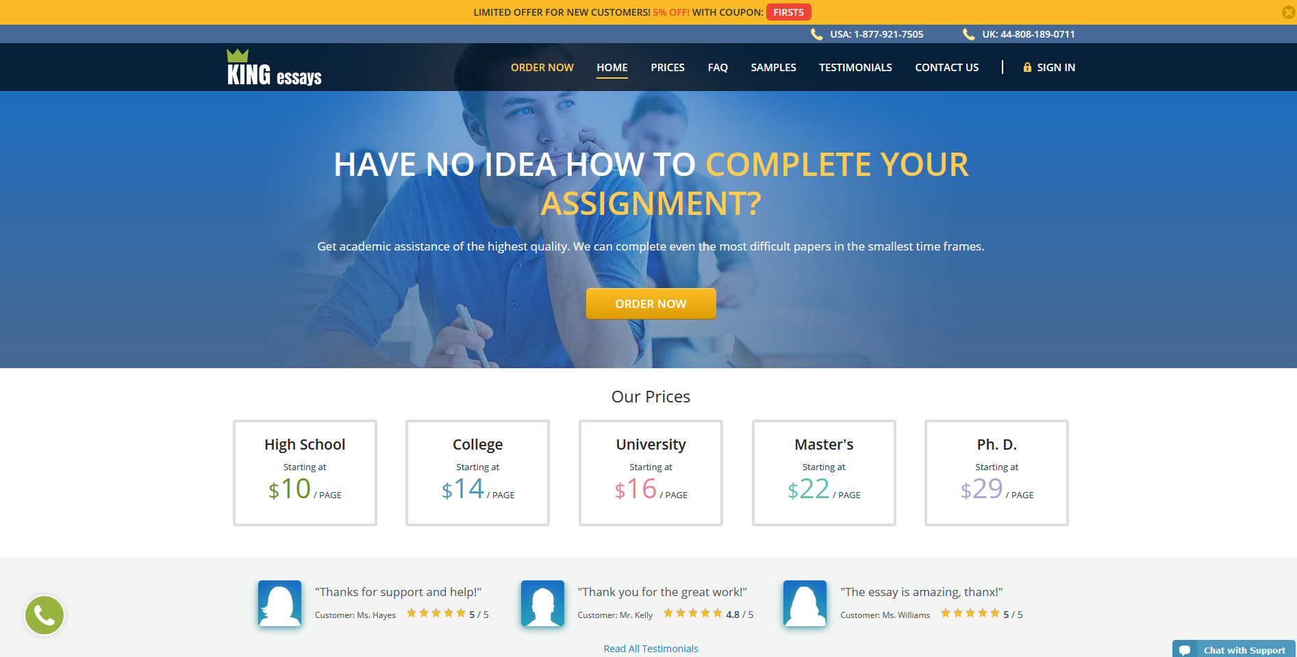 KingEssays Writing Service Review by TopEssayCompanies