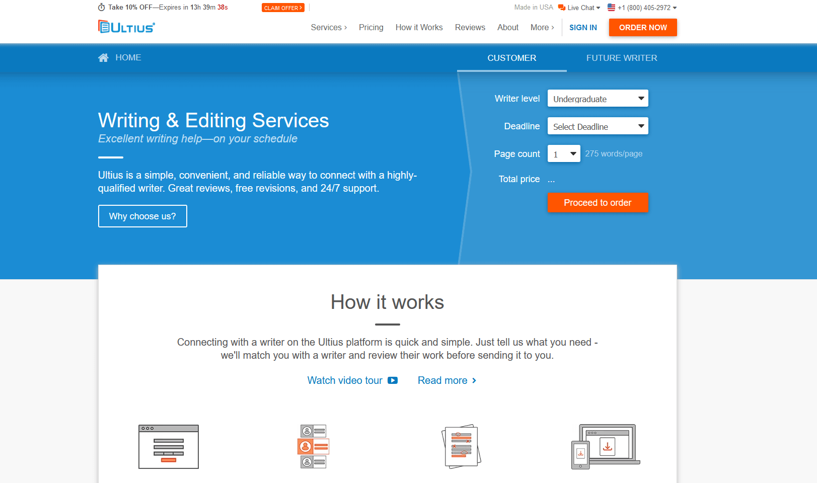 Ultius Writing Service Review by TopEssayCompanies